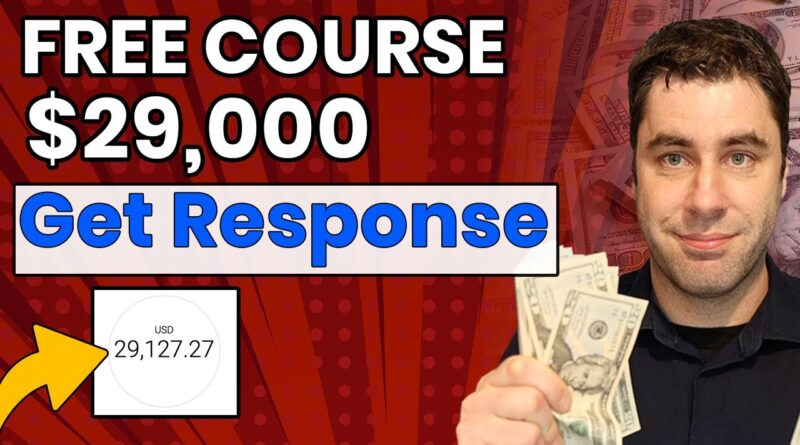 Make Money Online With GetResponse In 2021 Step By Step!  (Affiliate Marketing Tutorial)